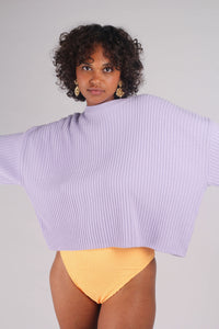Lilac ribbed long sleeved jumper_MCFBA4