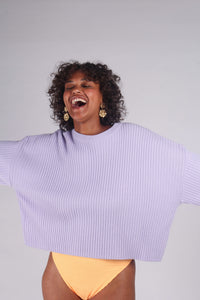 Lilac ribbed long sleeved jumper_MCFBA5