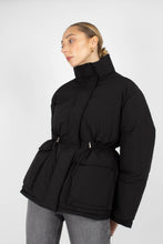 Load image into Gallery viewer, Black patch pocket puffer jacket7