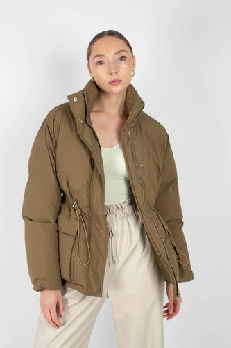 Khaki patch pocket puffer jacket1sx