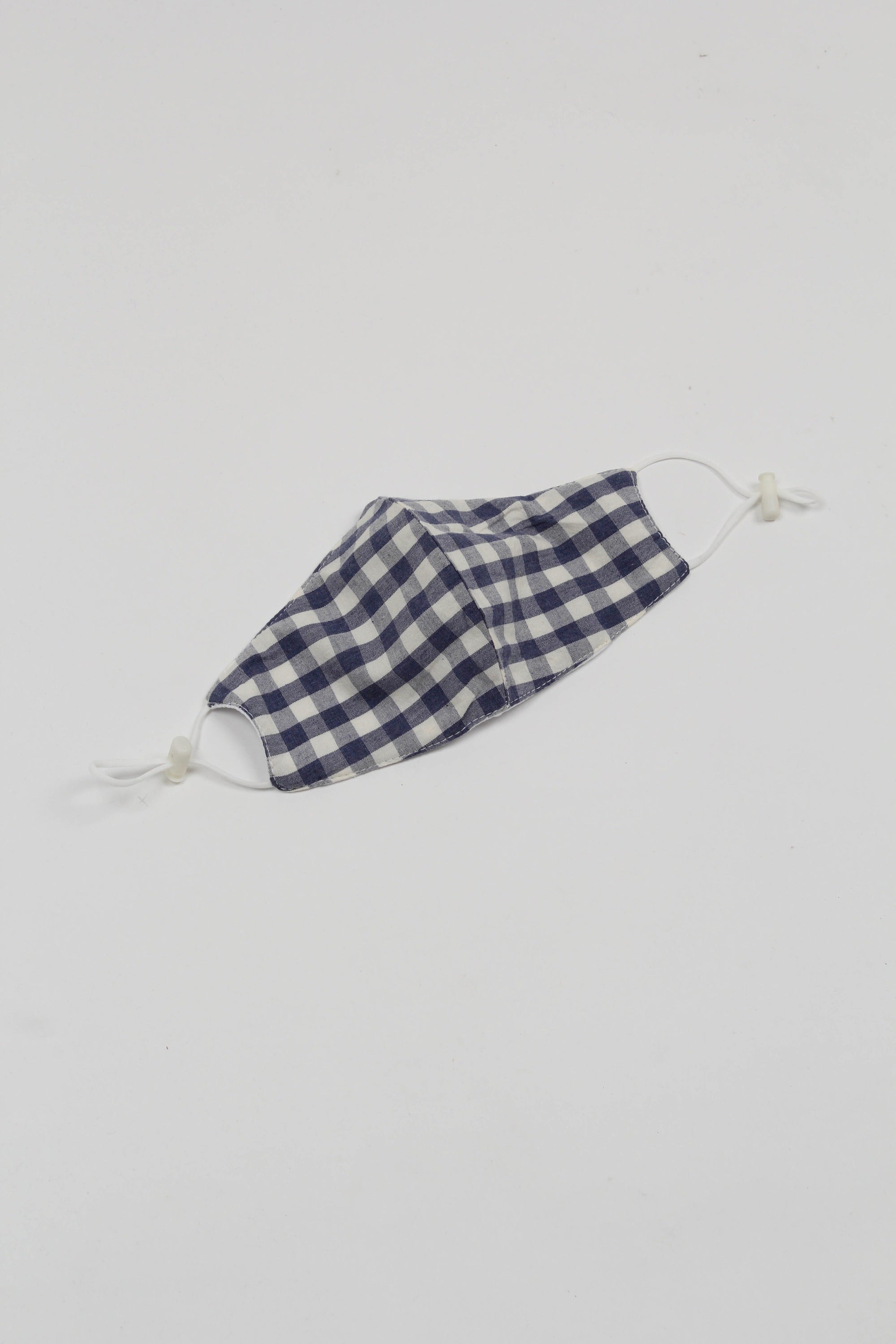 Blue gingham face mask_PFFBA1