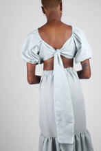 Load image into Gallery viewer, Khaki gingham off shoulder wrap top - set_12