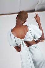 Load image into Gallery viewer, Khaki gingham off shoulder wrap top - set_3