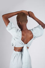 Load image into Gallery viewer, Khaki gingham off shoulder wrap top - set_7