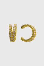 Load image into Gallery viewer, Gold pave double tier ear cuff - 8mm1sx