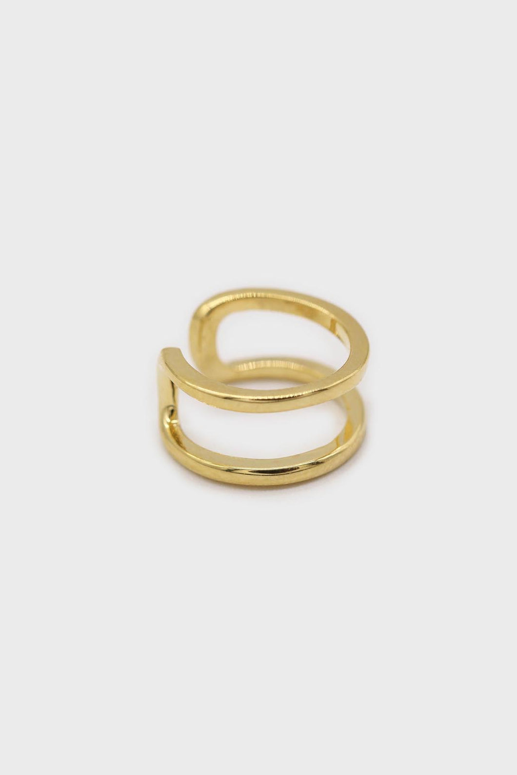 Gold simple double tier ear cuff - 8mm1sx