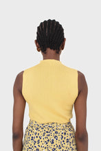 Load image into Gallery viewer, Mustard sleeveless mock neck knit tank4