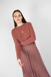 Rust high neck perfect long sleeved tee2