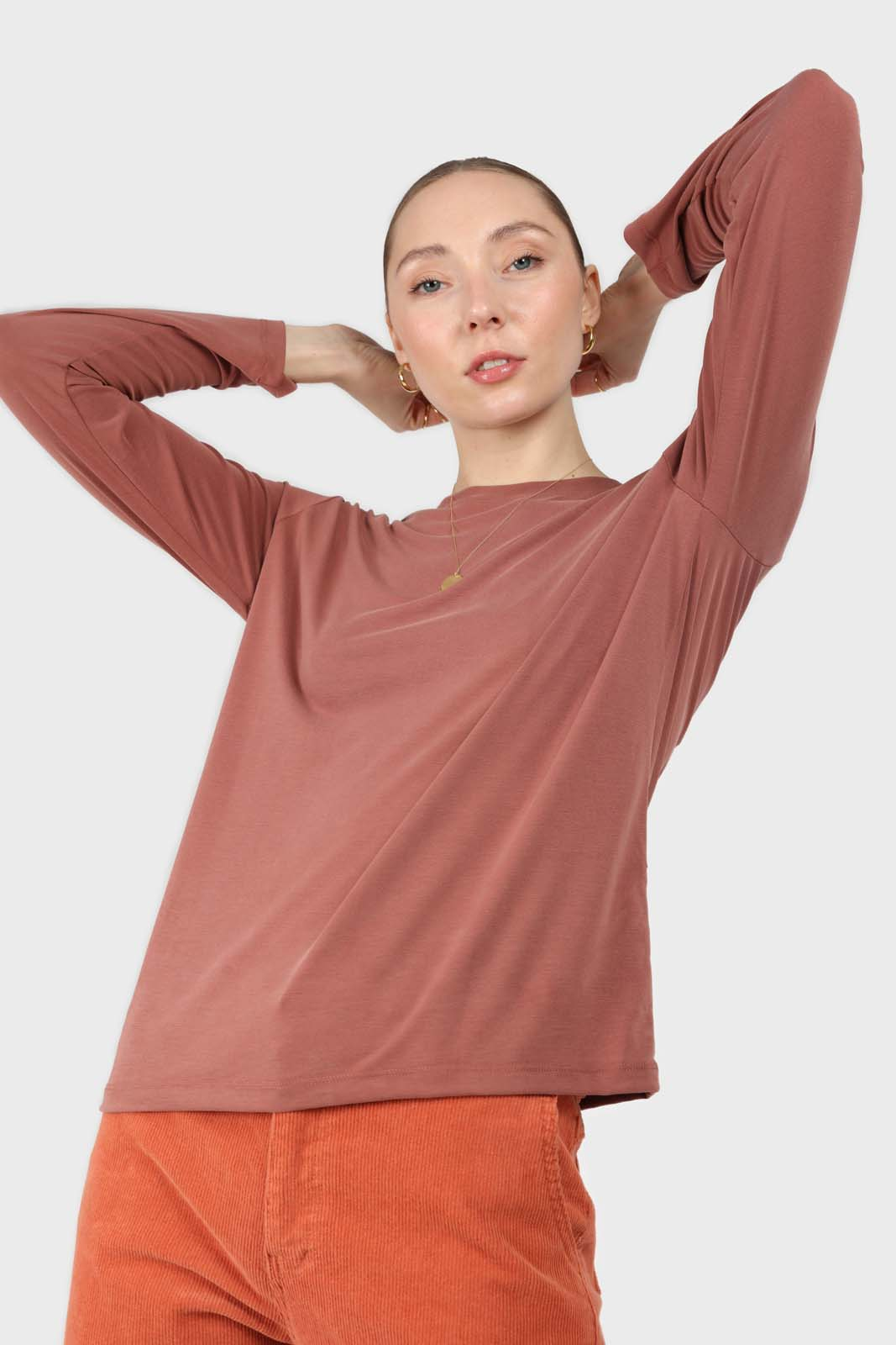 Rust high neck perfect long sleeved tee3