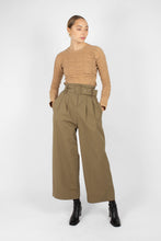 Load image into Gallery viewer, Khaki high waisted belted wide fit trousers1sx