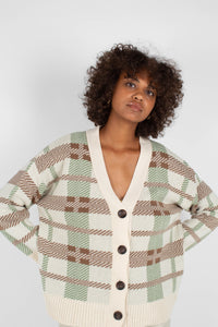 Beige and mint checked cardigan8