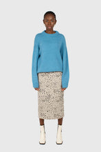 Load image into Gallery viewer, Bright blue oversized crew neck jumper2