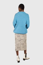 Load image into Gallery viewer, Bright blue oversized crew neck jumper5