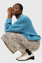 Load image into Gallery viewer, Bright blue oversized crew neck jumper6