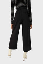 Load image into Gallery viewer, Black high waisted belted trousers 4
