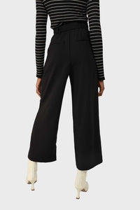 Black high waisted belted trousers 4