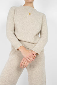 Ivory cashmere wool blend knit trousers4