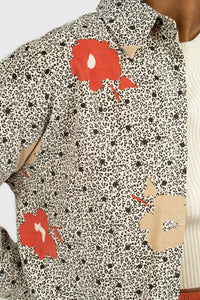 Ivory and red floral print corduroy shirt3