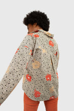 Load image into Gallery viewer, Ivory and red floral print corduroy shirt5