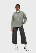 Load image into Gallery viewer, Khaki corduroy patch pocket oversized shirt jacket1sx