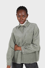 Load image into Gallery viewer, Khaki corduroy patch pocket oversized shirt jacket2