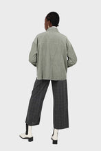 Load image into Gallery viewer, Khaki corduroy patch pocket oversized shirt jacket3