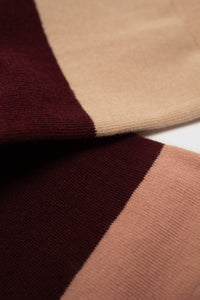 Burgundy and beige colorblock4