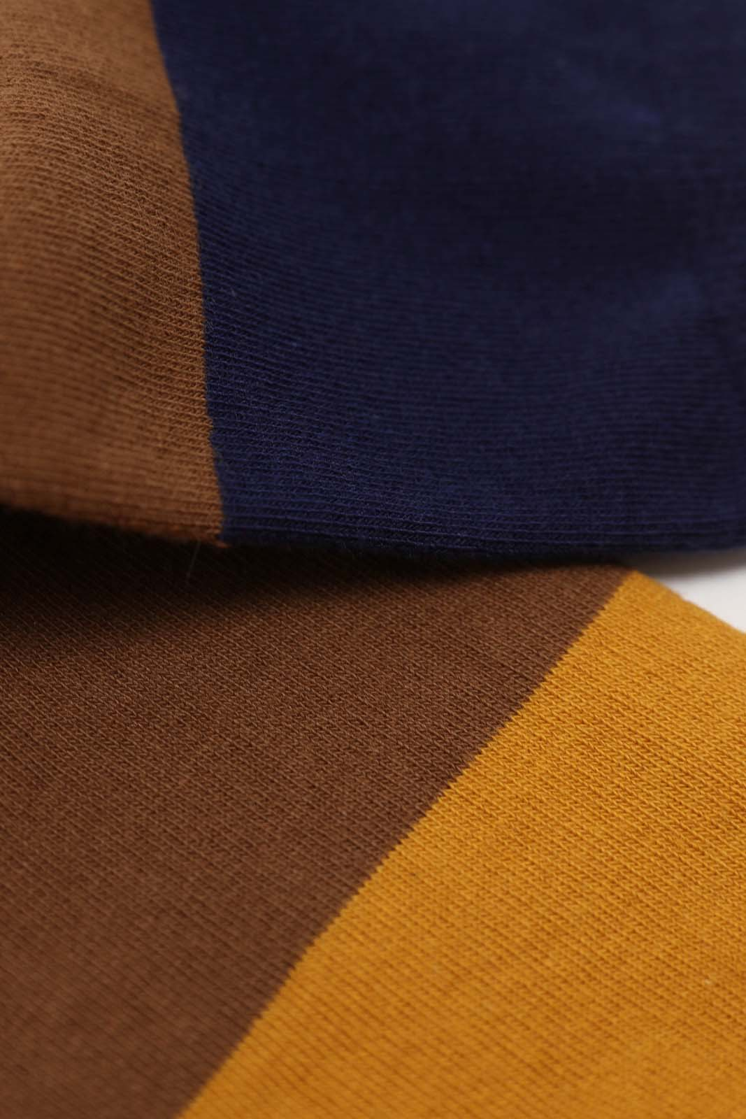 Camel and blue triple colorblock socks4