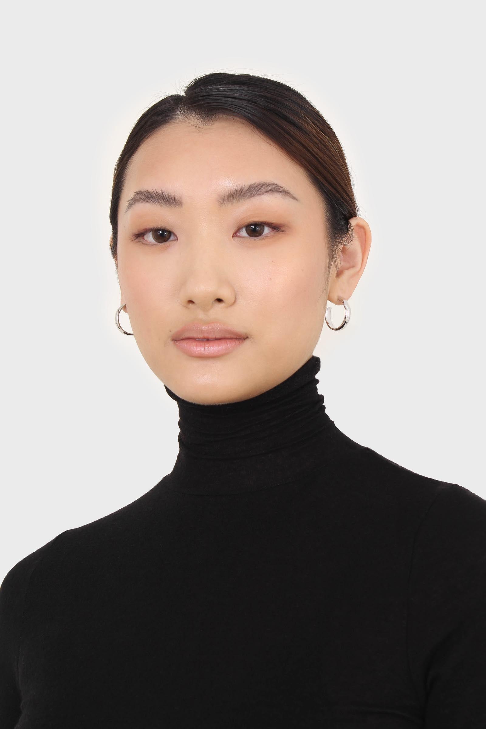 Black wool blended thin turtleneck top2
