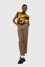 Load image into Gallery viewer, Beige corduroy loose fit trousers - 8121