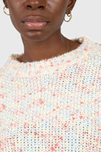 Load image into Gallery viewer, Pale pink mixed rainbow knit jumper4