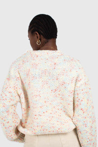 Pale pink mixed rainbow knit jumper6