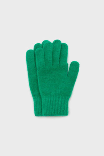 Bright green mohair gloves1sx