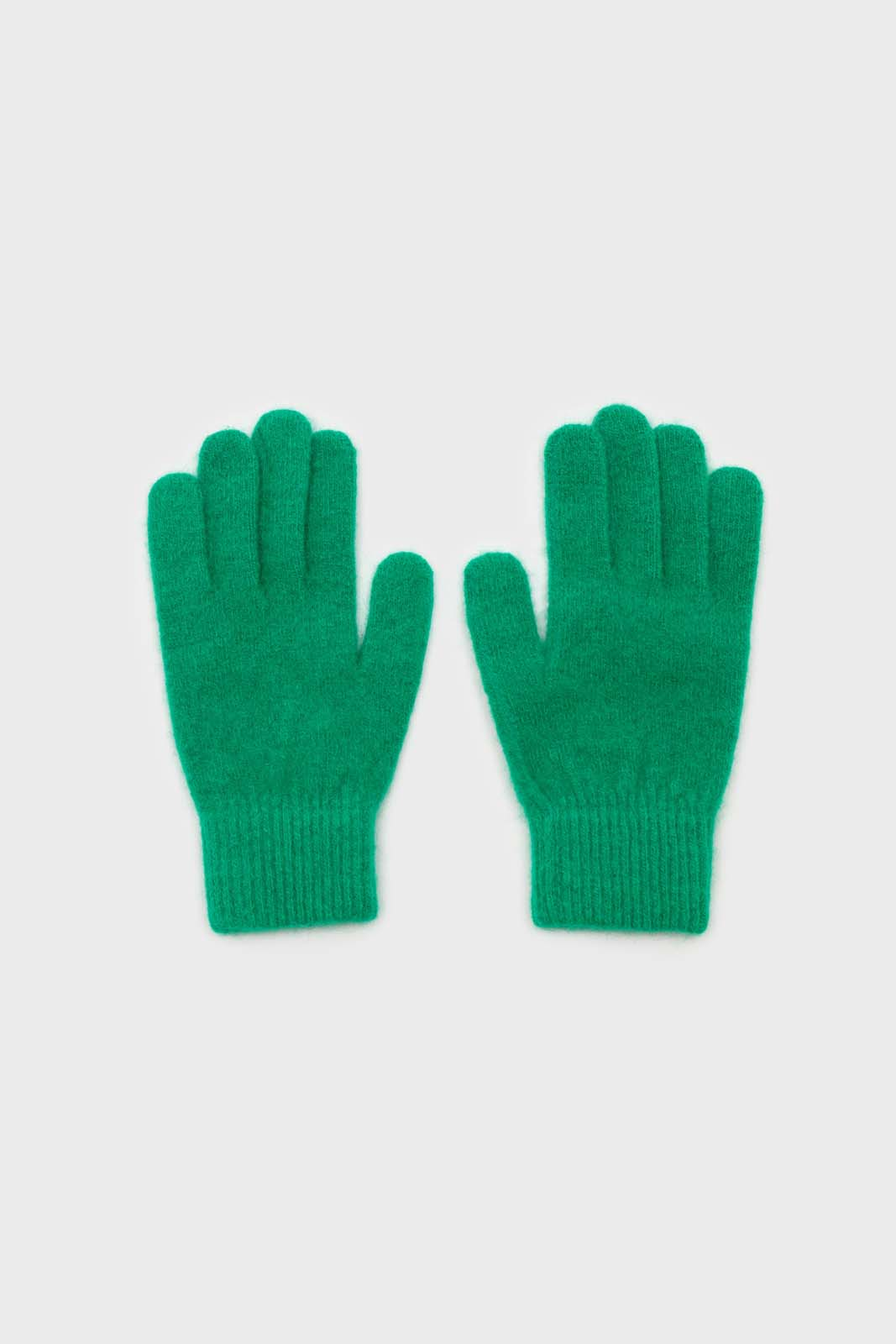 Bright green mohair gloves2