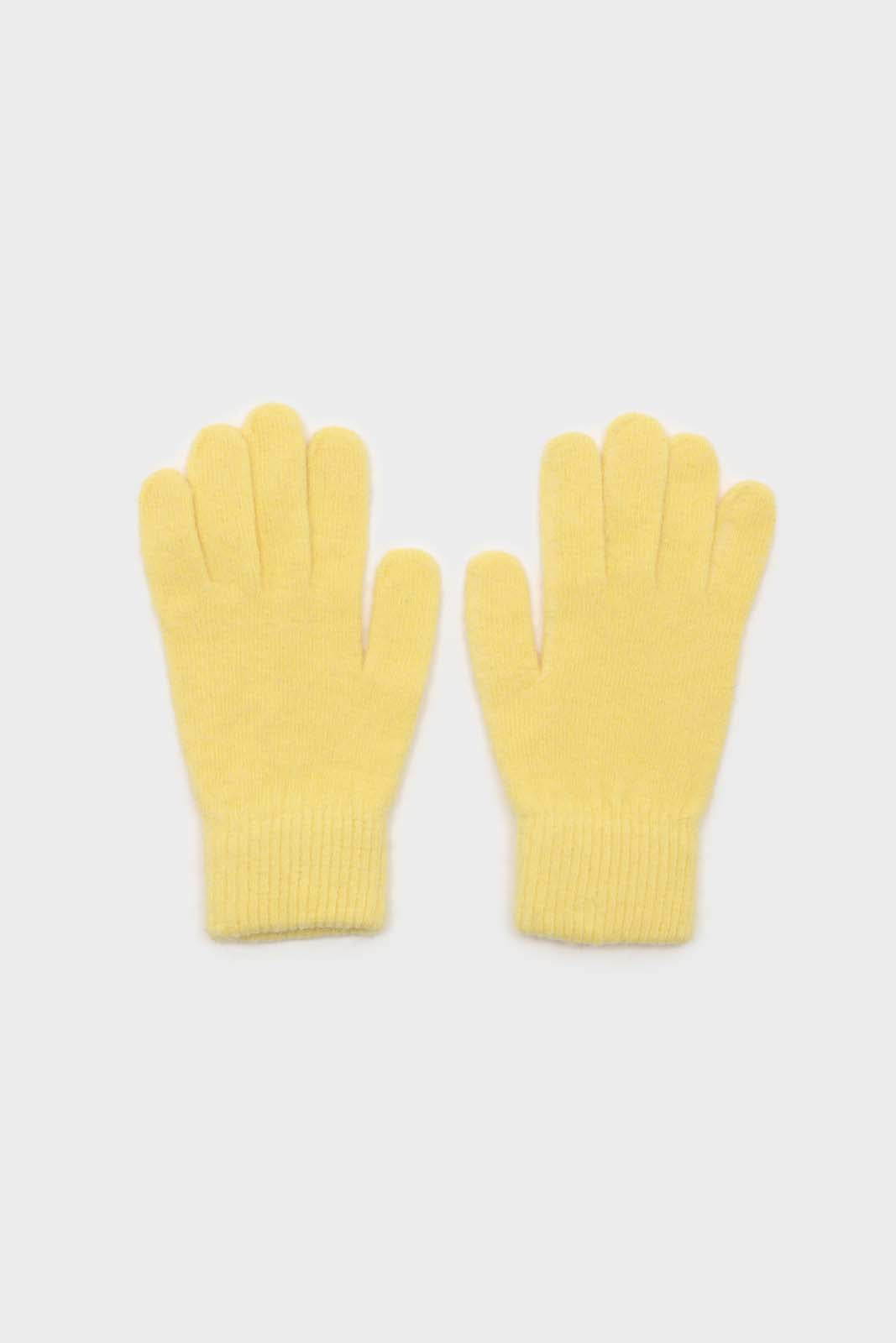 Yellow mohair gloves2