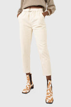 Load image into Gallery viewer, Ivory corduroy belted trousers1
