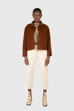 Load image into Gallery viewer, Ivory corduroy belted trousers2