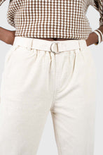 Load image into Gallery viewer, Ivory corduroy belted trousers4
