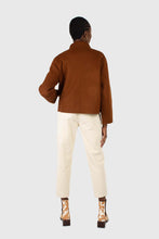Load image into Gallery viewer, Ivory corduroy belted trousers6