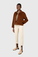 Load image into Gallery viewer, Ivory corduroy belted trousers7