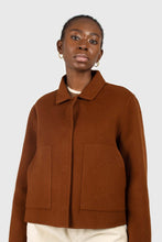 Load image into Gallery viewer, Brown handmade wool blend jacket1