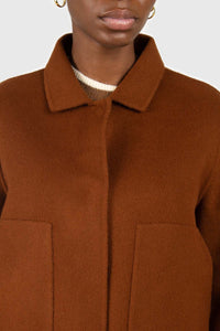 Brown handmade wool blend jacket3