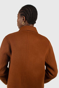 Brown handmade wool blend jacket4