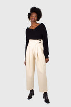 Load image into Gallery viewer, Black cross front panel knit top5