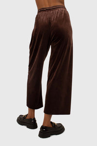 Brown velvet loose fit trousers3