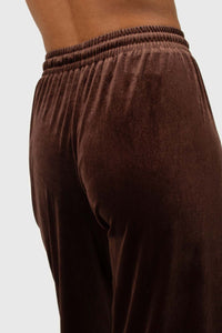 Brown velvet loose fit trousers5