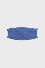 Load image into Gallery viewer, Bright blue washed cotton face mask2