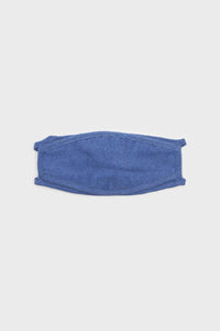 Bright blue washed cotton face mask2
