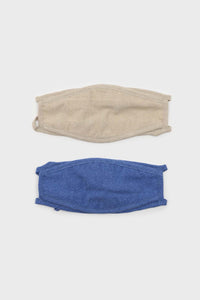 Bright blue washed cotton face mask3