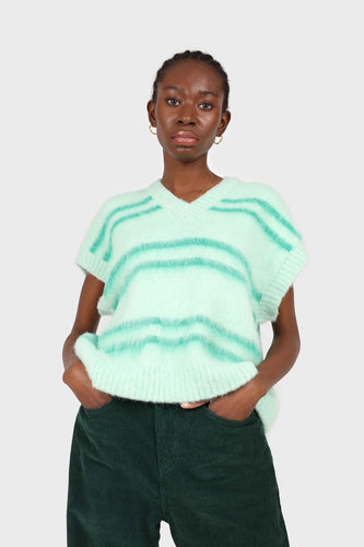 Mint striped wool blend sweater vest1sx